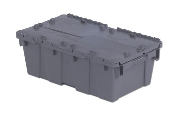"20x12x7.5"" Stack/Nest Attached Lid Container"