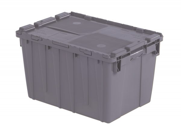 "21x15x12"" Stack/Nest Attached Lid Container"