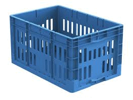 Vented-Straightwall-Stackable-Container-blue