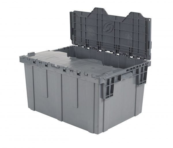 "28x20x15"" Stack/Nest Attached Lid Container"