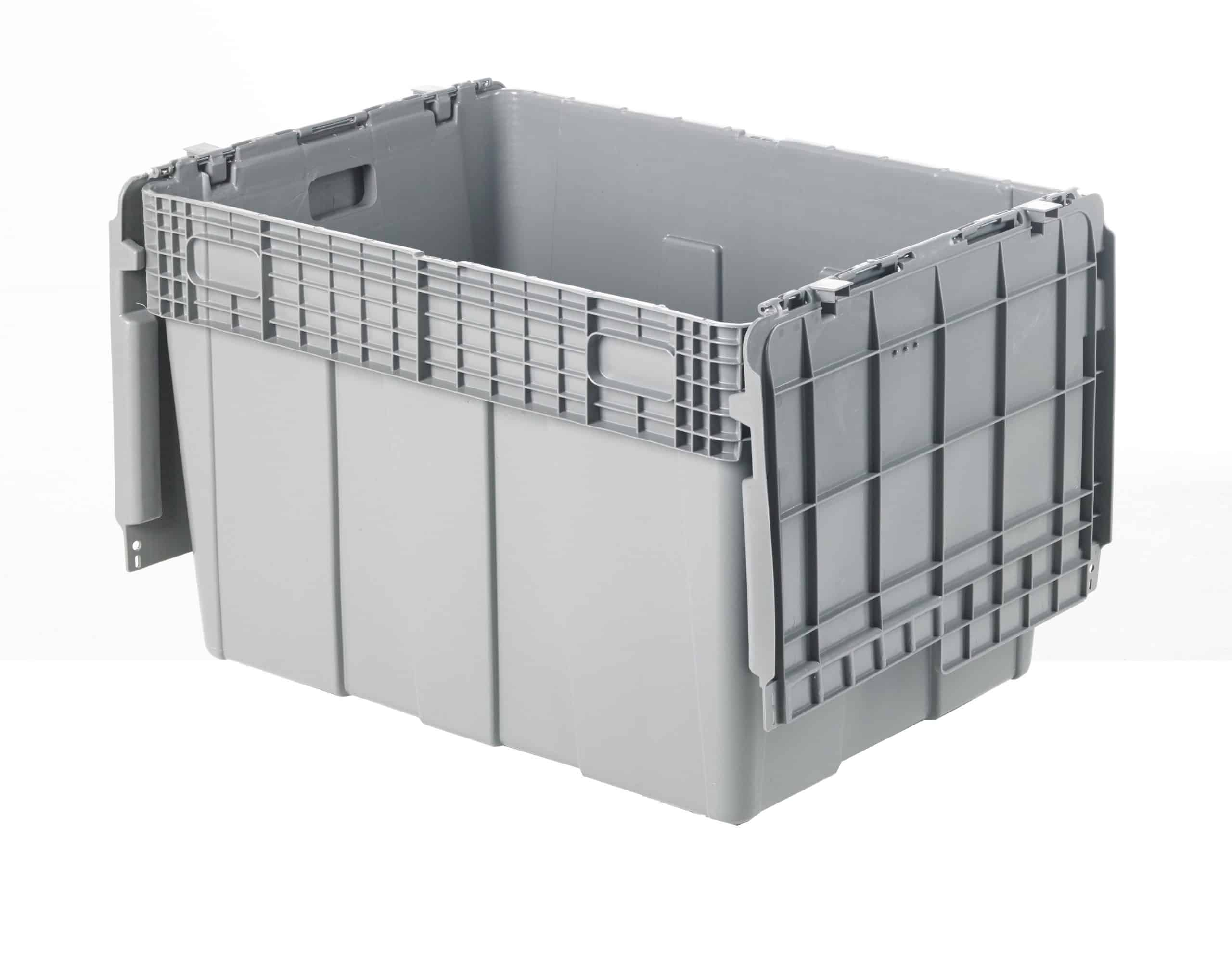 Stack-Nest-Attached-Lid-Container