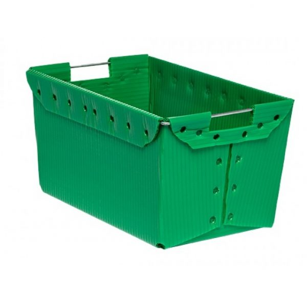 "18 x 11 x 9"" Nestable Corrugated Plastic Harvest Tote"