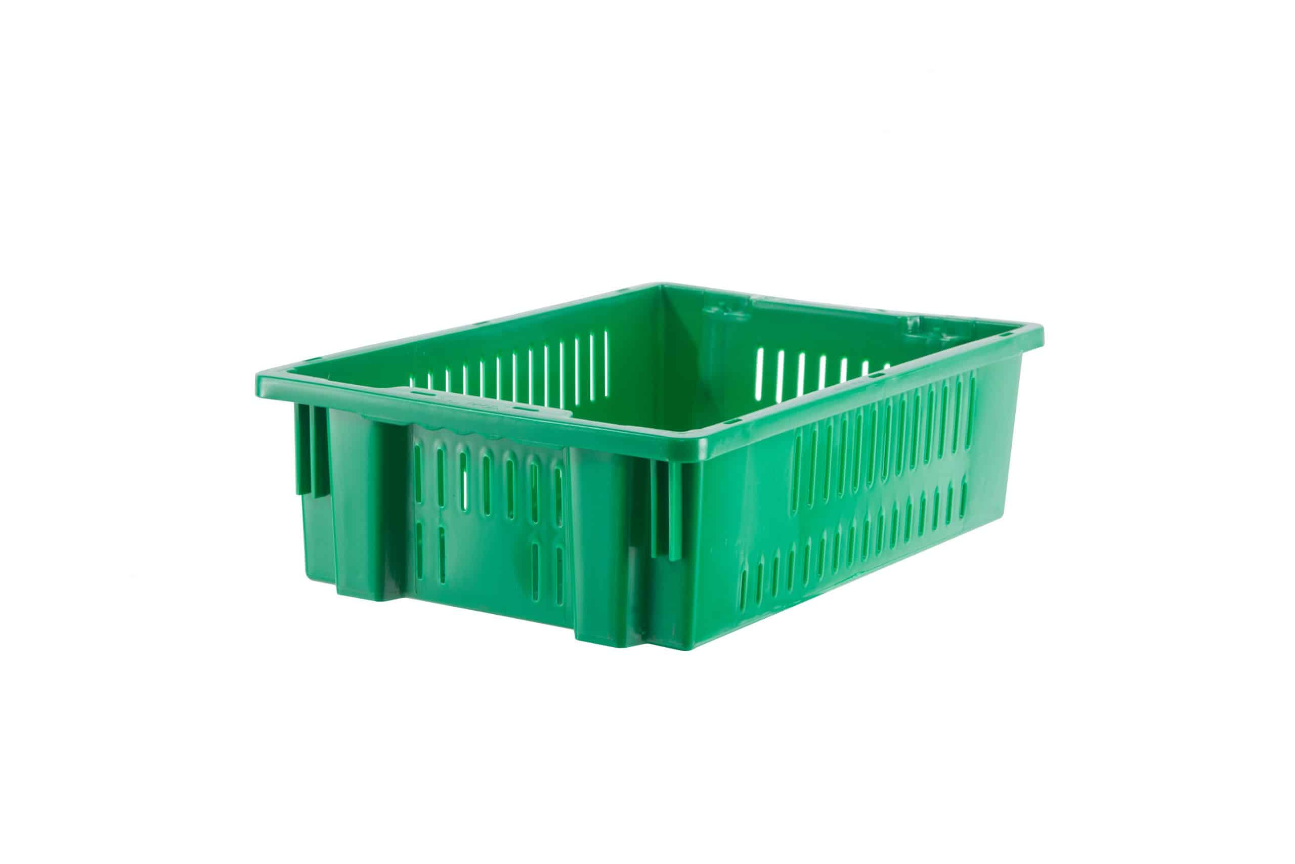 """20 x 13 x 6"""" Ventilated Stack-&-Nest  Container"""