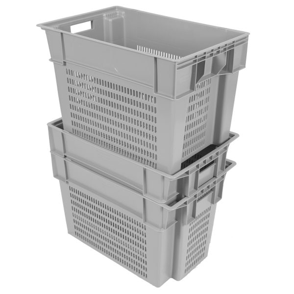 "24 x 16 x 16"" Vented Stack-&-Nest Tote"