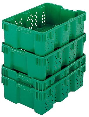 "24 x 16 x 7"" Stack-Nest Produce Container"