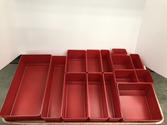 3  Deep  Molded Bin Cup Sample Assortment (1 each of 14 sizes)