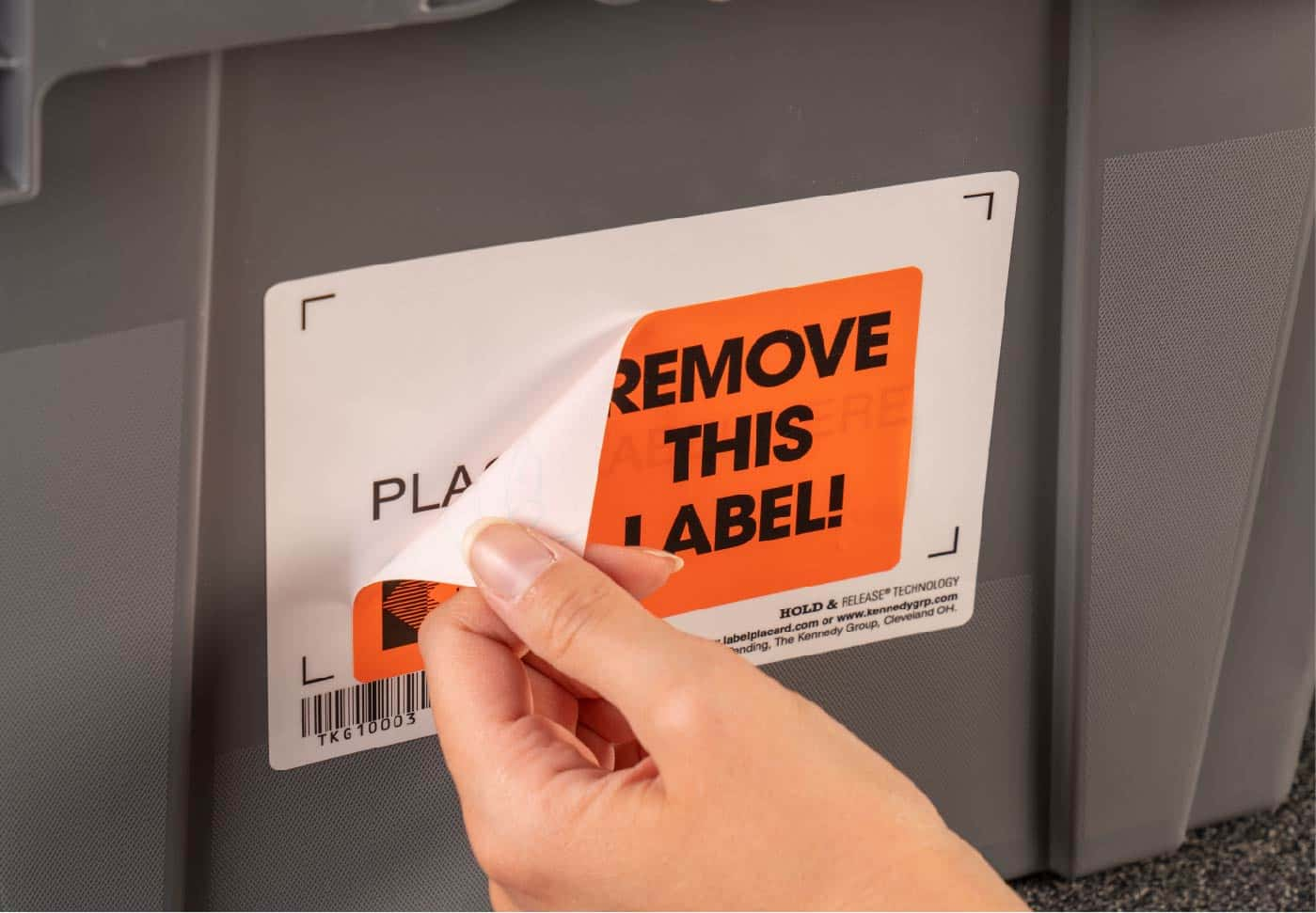 Removing Label From BarCode Container