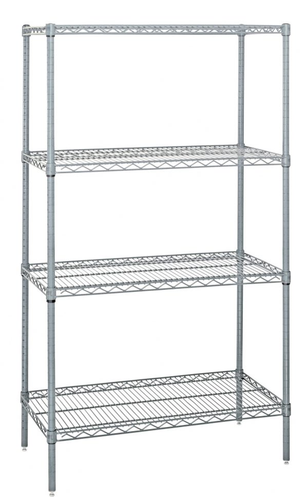 Chrome Stacked Wire Shelf