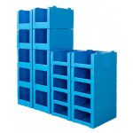 Durable and Stackable Warehouse Bins