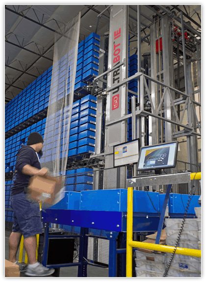 ASRS robot friendly plastic containers