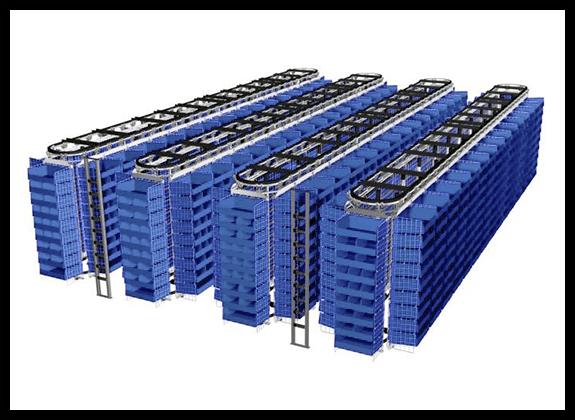 Corrugated Plastic Carousel container