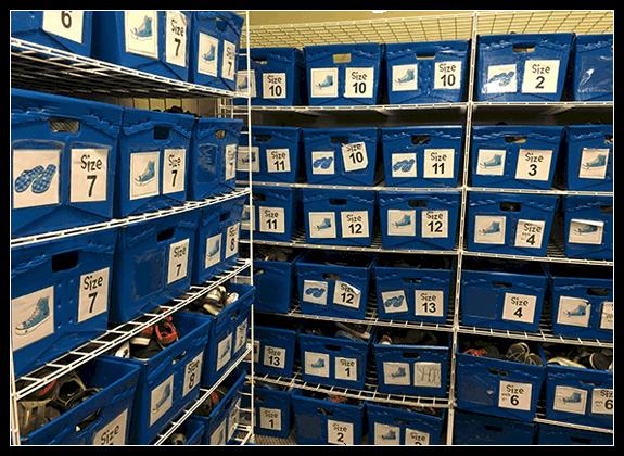 Corrugated plastic totes for Shoe Storage