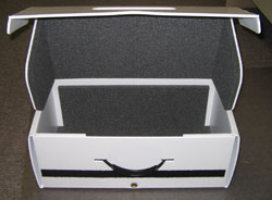 plastic case with foam lining